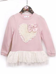 Mae Li Rose Dusty Rose Heart Tunic