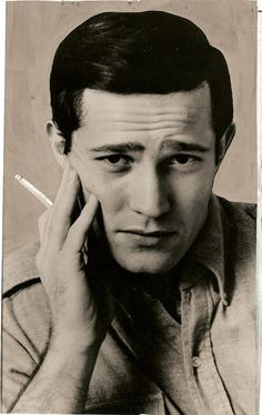 No, that's not Jack Kerouac.  That's Charles Siebert, 1967.  This unattributed publicity photo was hand-retouched for publication and originally had a dark background - hence the very obvious addition of manual highlights to the cancer stick.