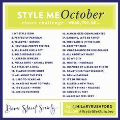 Closet Challenge - October