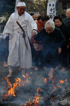 Tamiya Temple early Kannon Ji fire crossing the ri things of God