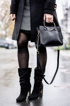 a928bf978f9c4 Outfit  Winterkleid x Slouch Boots w  Zalando