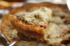 Veggie Quiche with Hash Brown Crust