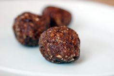 Paleo Chocolate Power Bar Balls. My food processor should be here on Friday. These sound super easy to make. Great mid-afternoon snack!
