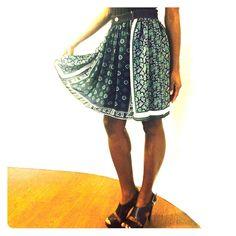 "Authentic Michael Kors print skirt Authentic Michael Kors print skirt is perfectly paired with your wardrobe. Model is 5'9"". Michael Kors Skirts Midi"