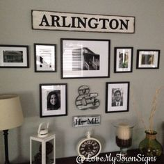 """Love how this customer hung the """"Arlington"""" sign in the wall collage!"""
