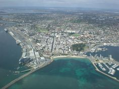Looking down at Fremantle!