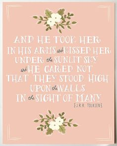 avictoriousfeast: et il la pris dans ces bras sous le ciel ensoleillé et il se souciait pas qu'ils se trouvaient haut sur les murs, à la vue d'un grand nombre      love.
