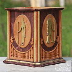Купить Короб Боги Египта - резьба по дереву, резьба, эко дом, солидный подарок