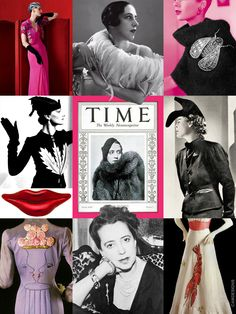 Elsa Schiaparelli (Sept. 10, 1890 – Nov. 13, 1973) was an Italian fashion designer regarded as one of the most prominent figures in fashion between the two World Wars. Starting with knitwear, her designs were heavily influenced by Surrealists like her collaborators Salvador Dalí & Alberto Giacometti. Her clients included the heiress Daisy Fellowes & actress Mae West. She created the color Shocking Pink, and is credited with bringing color to couture. Her granddaughter is actress Marisa…