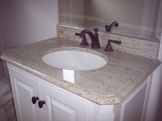 Crema Pearl Granite , But Dont Like With Bronze Fixture