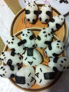 Haha cute panda rice balls!