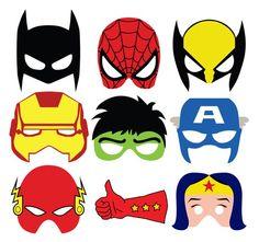 Superheroes Masks Photo Props