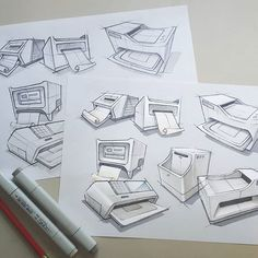 some printer / office products doodles. not much time for sketches lately so its…