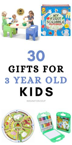 30 Gifts, Easy Gifts, 3 Year Olds, Cool Gifts For Kids, Green Toys, Best Kids Toys, Parent Gifts, Lessons For Kids, Cool Toys