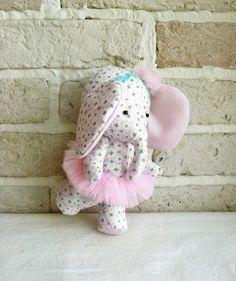 Ballerina Elephant Hand Made Soft Toys by sistersdreams on Etsy, $30.00