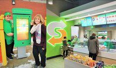 Self-order drivethru kiosk at Subway