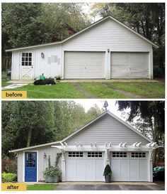 Garage security tips pinterest garage doors vacation and doors fresh paint new light fixtures carriage house style garage doors and the addition of a pergola make this a picture perfect garage makeover solutioingenieria Image collections