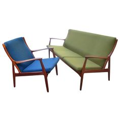 1stdibs.com | Danish Teak Sofa and Chair