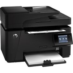HP - LaserJet Pro MFP M127fw Wireless Black-and-White All-in-One Laser Printer - Black - Angle - $172