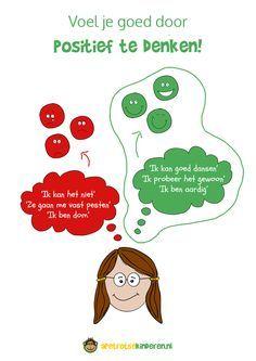 Infographic: Voel jezelf goed door positief te denken
