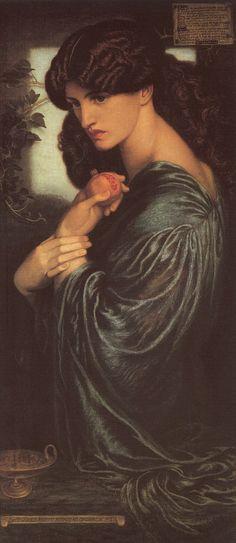 작품명 : 페르세포네 작가명 : 단테 가브리엘 로세타 버밍엄 미술관 소장 ■ 이 그림은 명계에 머무르고 있는 페르세포네를 보여준다. 잃어버린 자유를 일깨우는, 한 줄기 광선이 좁은 틈을 통해 지하세계로 들어와 있으며 그녀는 수심에 잠겨있는 듯 보인다. 그는 이 그림 속 페르세포네의 모델이자 동료의 부인인 제인 모리스를 사랑했기 때문이었다. 로세티는 페르세포네 신화와 자신의 상황을 동일하게 취급하였고 페르세포네가 명계에 갇혀 있는 시간을 제인이 남편과 보내는 시간에 비유했다. ■ 이 그림의 모델이 된 여인과 페르세포네의 아름다움이 고귀함이라는 단어로 다가온다. 그리고 이제까지 다른 작품에서 보아왔던 밝은 피부의 미남미녀와 다르게 피부가 조금 어두워서 그 점도 독특하고 좋다. 이건 절대 내가 피부가 까만편이라서가 아니다. 석류를 놓을까 말까 고민하는 것이 페르세포네의 우유부단함을 묘사한 것이라고 하는데 그것보단 아름다운 손이 더 눈에 들어온다.