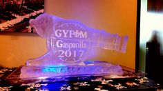 Full sized cannon ice sculpture for a corporate event. #icesculptures  #icesculpturestampa