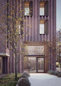 dMFK Award-winning Architects in London Auckland Castle, Portsmouth Dockyard, Duggan Morris, Pembroke College, Wythe Hotel, Kingston University, Small Windows, Brick Building, Facades
