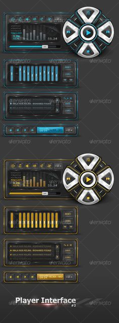 Player Interface 2 - #User #Interfaces Web Elements Download here: https://graphicriver.net/item/player-interface-2/99613?ref=alena994