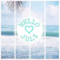 Hello July july hello july welcome july july quotes hello july images july images july pictures Seasons Months, Days And Months, Months In A Year, 1 Year, 12 Months, Hello July Images, Happy New Month Quotes, Happy Quotes, Rose Gold Stationery