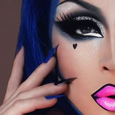 Evicted far too early :( Laila McQueen Drag Queen Makeup, Drag Makeup, Goth Makeup, Sexy Makeup, Flawless Makeup, Makeup Art, Makeup Looks, Burlesque Makeup, Rupaul Drag Queen