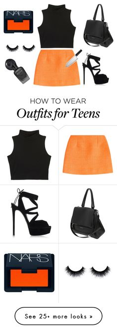 """""""Halloween 2015"""" by ibuzzlightyear on Polyvore featuring Isa Arfen, Casadei, Givenchy and NARS Cosmetics"""