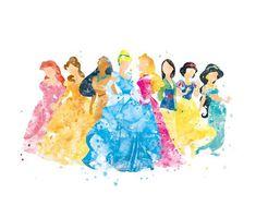 56 Ideas Wallpaper Cute Disney Princesses Art For 2019 Disney Kunst, Arte Disney, Disney Art, Disney Wall Decor, Disney Princess Gifts, Cute Captions, Pinturas Disney, Disney Background, Watercolor Disney