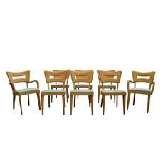 Set of Eight Vintage Heywood Wakefield Dogbone Chairs     From a unique collection of antique and modern dining room chairs at https://www.1stdibs.com/furniture/seating/dining-room-chairs/
