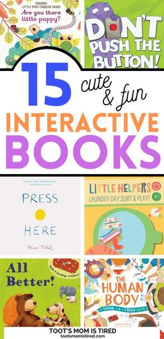 15 Best Interactive Books for Toddlers and Preschoolers | fun books to read with kids, books to play with, play books, 1 year olds, 2 year olds, 3 year olds, 4 year olds. Preschool 2 Year Old, Preschool Classroom, Classroom Themes, Toddler Preschool, Two Years Old Activities, Summer Activities, Interactive Books For Kids, Everything Preschool, Literacy Skills