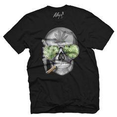Weed Skull Men's T Shirt