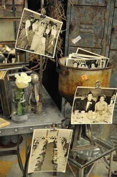 I love using old photos in my vintage market displays!