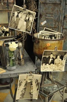 I love using old photos in my vintage market displays!
