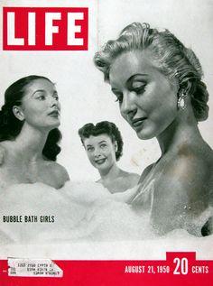 1950 Life Magazine Cover - Bubble Bath Girls