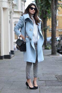 Blue Pastel Coat www.stylissim.com