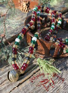 'Holly Berry' Rhythm Beads-christmas rhythm beads, horse beads, speed beads, horse necklace, horse jewelery, sleigh bells, horse bells