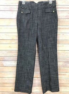 a490f9980 Anthropologie Leifsdottir Womens Trousers Dress Pants Black Sz 4 Viscose  Career #Leifsdottir #Straight #Work