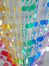 Bubble Beaded Curtain  Room Divider rainbow theme bedroom decorations