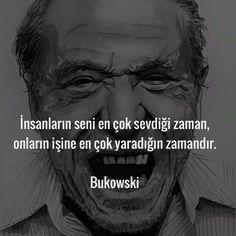 İnsanların seni en çok sevdiği zaman, onların işine en çok yaradığın zamandır.   - Charles Bukowski  #sözler #anlamlısözler #güzelsözler #manalısözler #özlüsözler #alıntı #alıntılar #alıntıdır #alıntısözler
