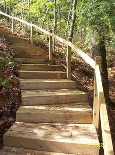 Outdoor Rooms - Steps #landscapebackyardslope
