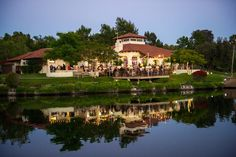 Private lake, at Rancho Santa Fe's Fairbanks Ranch Clubhouse. A perfect wedding venue!