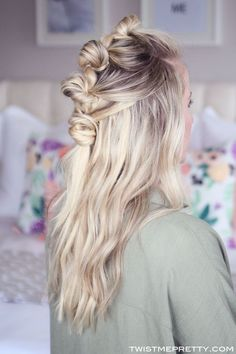 knot + half-up DO