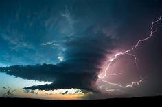 LP supercell lightning