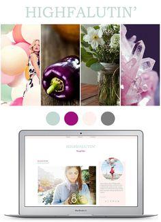 Premade Blogger Template Blog Design Highfalutin'