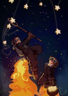"""Star Hunters"" by Dank #art #illustration #stars"