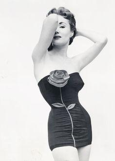 swimwear 1953 rose